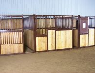 Completed Box Stalls with Lumber installed