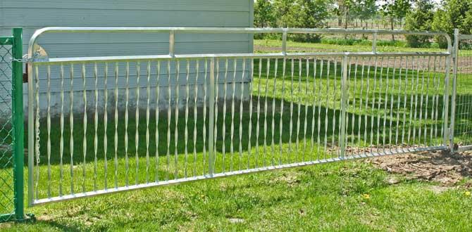 Aluminum Spiral Gate in use