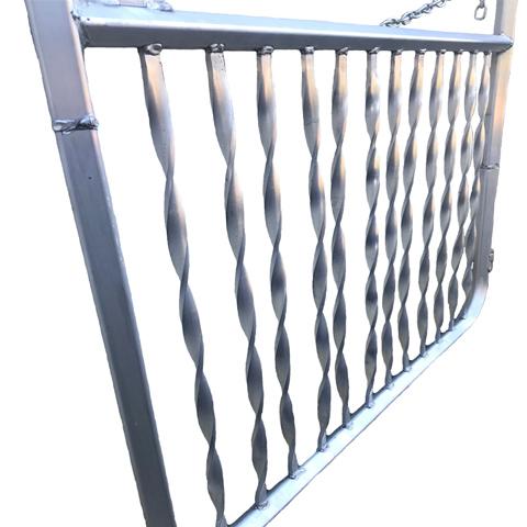 Aluminum Spiral Gate close up