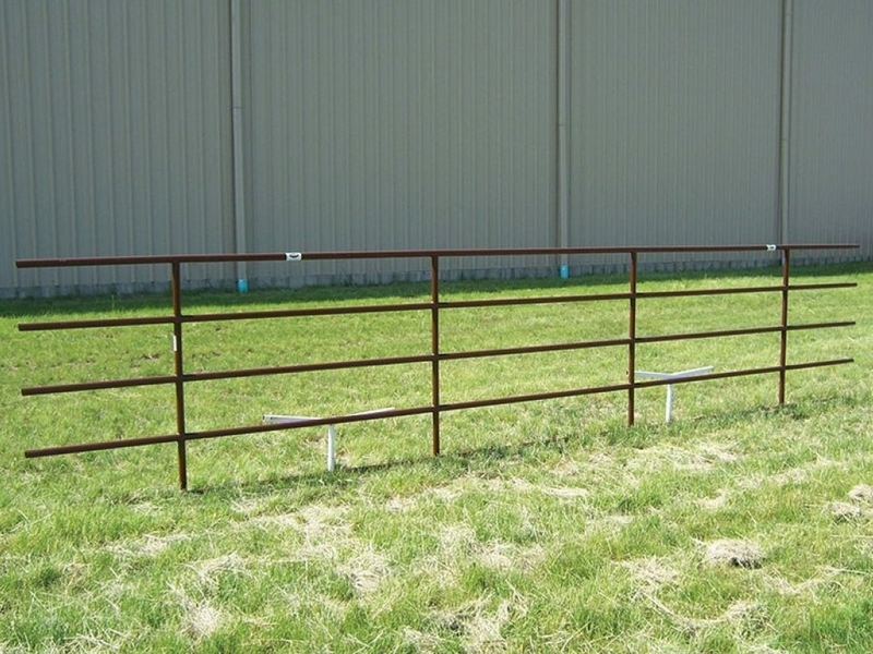 Installed Continuous Fence Panel