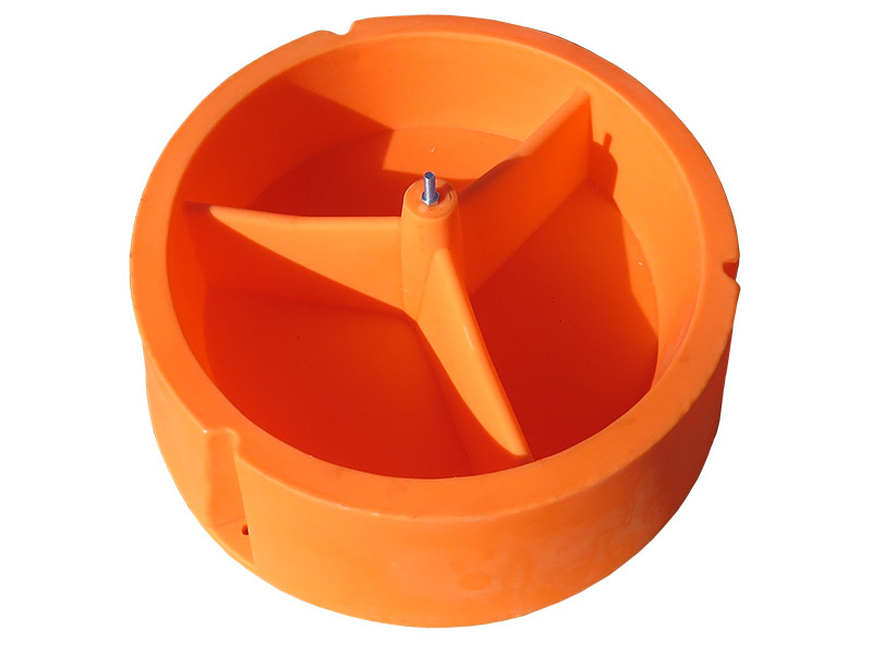 Ground Mineral Feeder's 3 separated compartments
