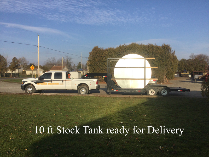 A 10 FT stock tank ready for delivery