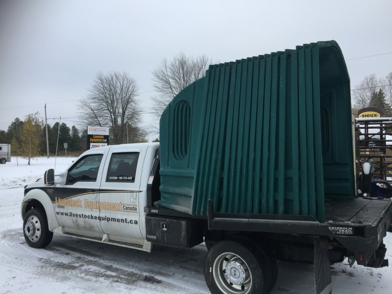 Hay Huts being transported