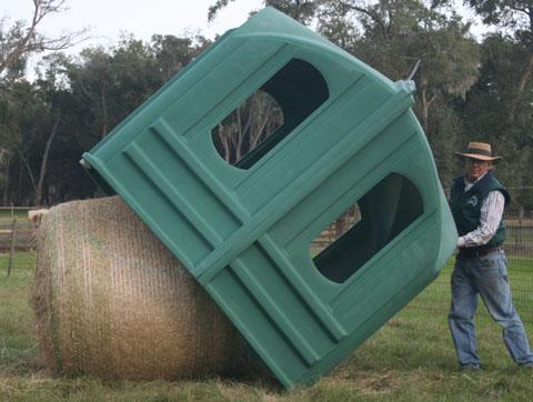 Hay Hut being filled