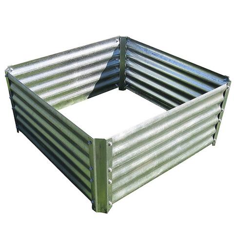 A 4 x 4 ft Galvanized Garden Bed