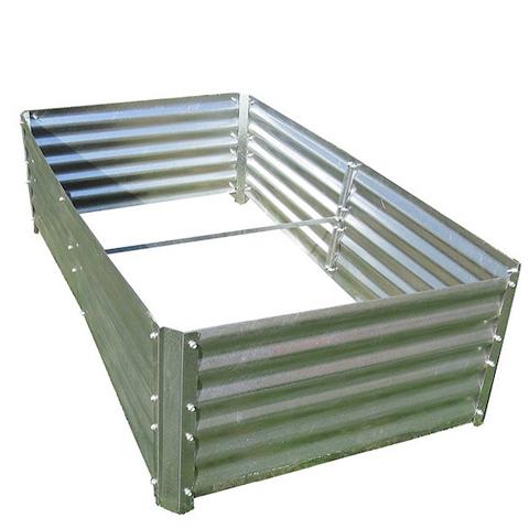 A 4 x 7.5 ft Galvanized Garden Bed