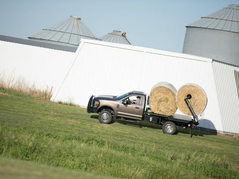 A Bale Bed transporting 2 bales