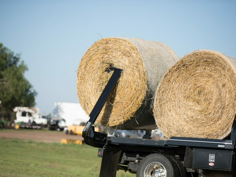 A Bale Bed with 2 bales