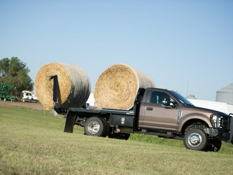 A Bale Bed loaded with 2 bales