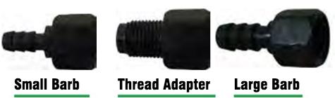 SM, LG, Barbs, Thread Adapter